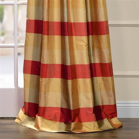 plaid silk curtains get dynasty silk taffeta plaid curtains and drapes