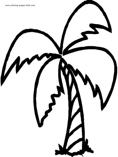 Palm Tree Color Page Palm Tree Coloring Page