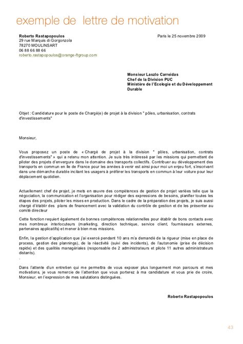 Lettre De Motivation Pour Section Europeenne Anglais
