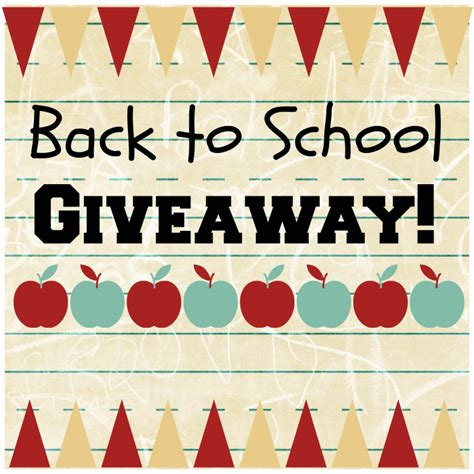 Back To School Giveaways - back to school april golightly