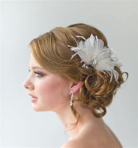 Wedding Hair Accessories With Feathers by Bridal Fascinator Wedding Hair Accessory Feather