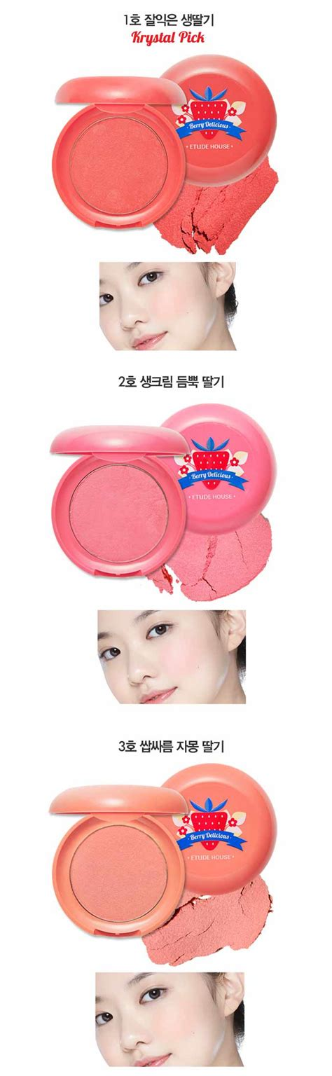 Etude House Fresh Fruit Lip Cheek 3 Color box korea etude house berry delicious fresh blusher 6g best price and fast