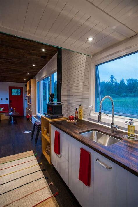 eco friendly tiny house   drawbridge deck home