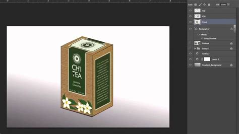 how to mock up design in illustrator creating packaging mockup using photoshop youtube