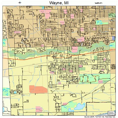 map of wayne county michigan wayne michigan map 2684940