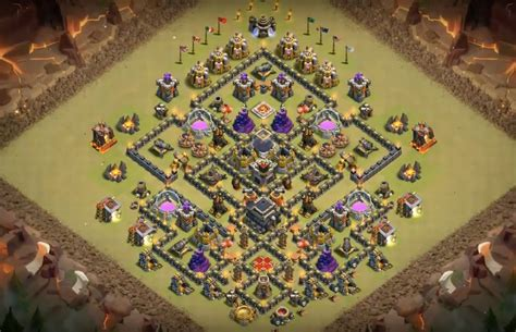 th9 base with war bomb tower 2016 17 bomb tower farming war base layouts th7 to th11