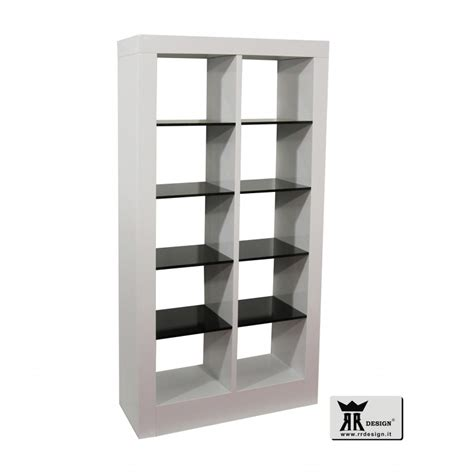 libreria moderna design libreria moderna laccato bianco lucido e nero lucido primo