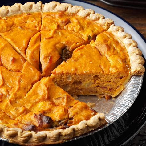 savory pumpkin quiche recipe taste of home