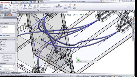 tutorial solidworks electrical 2014 routing cables and wires in solidworks electrical 3d youtube