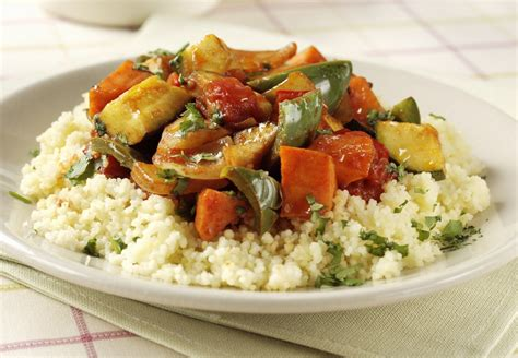 Vegetarian/Vegan Roasted Vegetables With Couscous Recipe