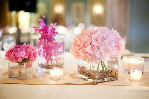pink centerpieces pink wedding flowers for beautiful centerpieces