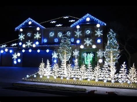 christmas house with lights and music dubstep christmas lights to music youtube