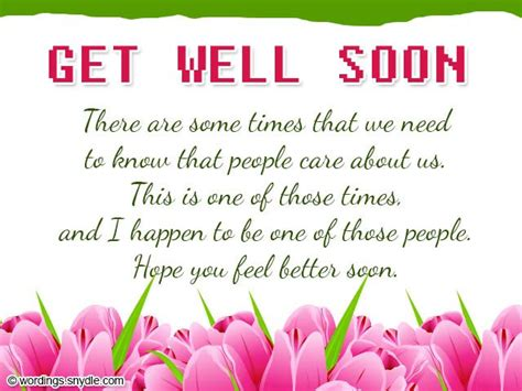 Get Well Greeting Card Verses