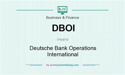 deutsche bank international dboi deutsche bank operations international in business