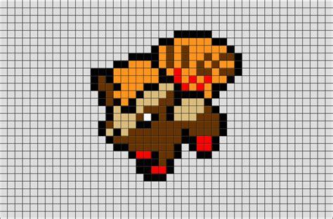 pokemon vulpix pixel art brik