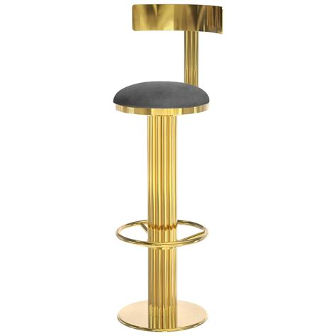 Real Leather Bar Stool Bar Stool Casablanca In Golded Polished Brass And Genuine Leather 2016 For Sale At 1stdibs