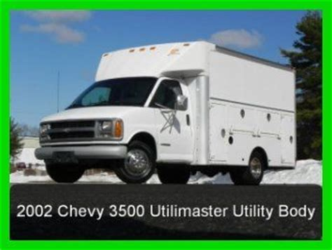 auto body repair training 2002 chevrolet express 3500 parental controls sell used 2002 chevy express 3500 utilimaster walk in plumbers electricians utility body in