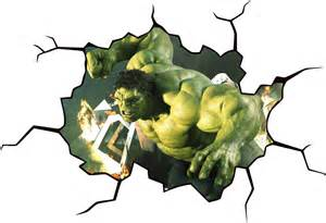 Hulk Wall Stickers hulk cracked wall or window effect decal sticker decor art mural