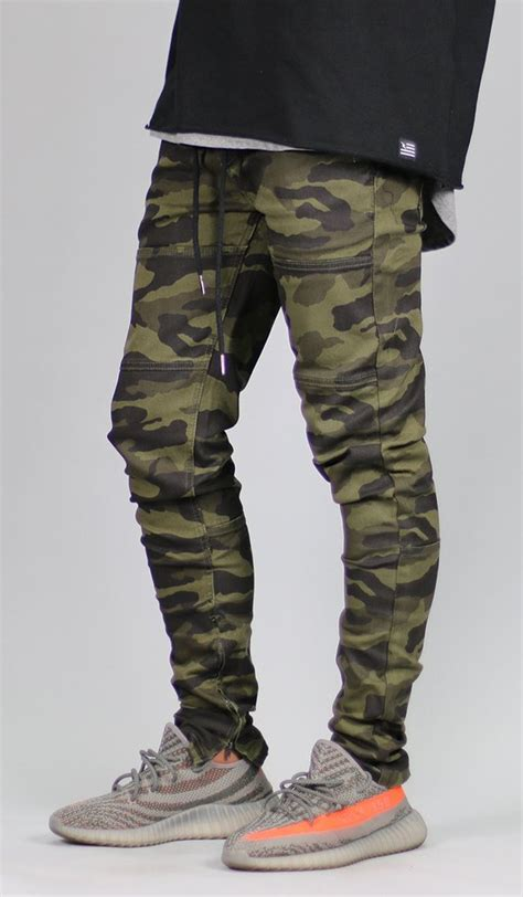 olive camo zipper pant hyper denim