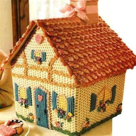 pattern for large gingerbread house crochet gingerbread house pattern available crochetholic