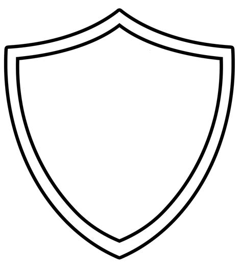 shield patch template shield shape clipart best