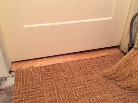 Interior Door Gap Fix Door Sweep Uneven Floor W Variable Gap Between Opened And Closed Doityourself Community