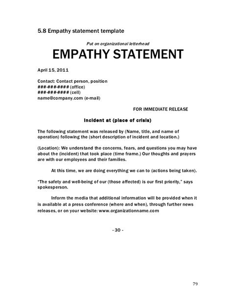 empathy statements