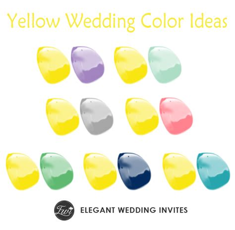 yellow colour combination 7 perfect yellow wedding color combination ideas to have