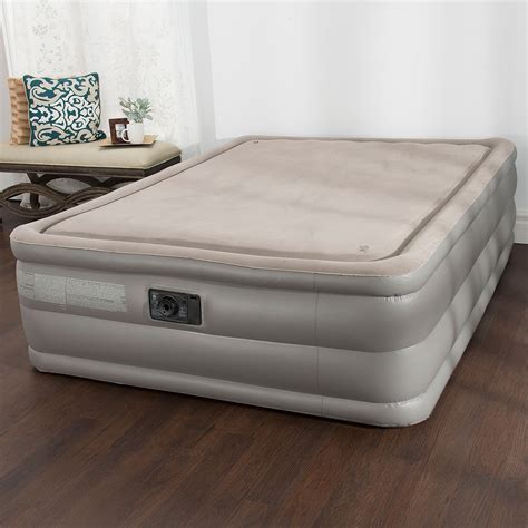 intex memory foam top high rise air bed mattress new ebay
