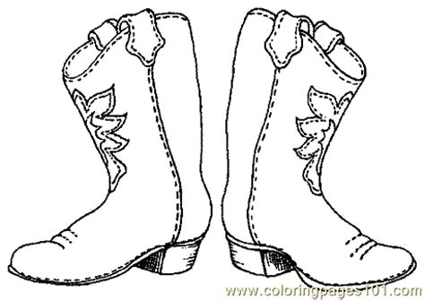 Printable Cowboy Boots Template Free Printable Coloring Drawing Of A Cowboy Boot Printable