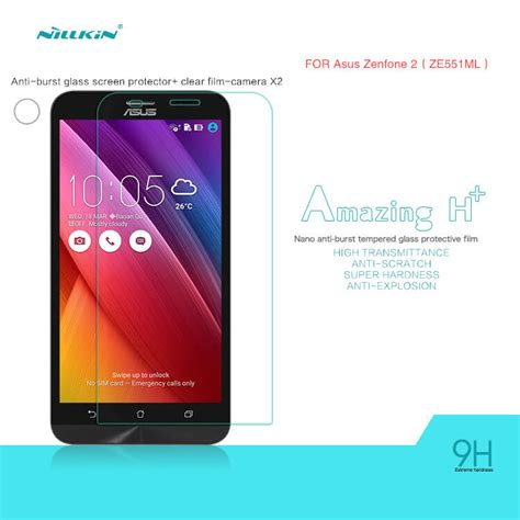 Tempered Glass Asus Zenfone 2 Ze550ml Ze551ml 55 Inch Screen Guard 1 nillkin amazing h tempered glass screen protector for