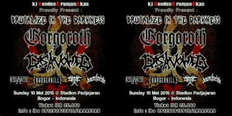 Kaos Deadsquad Band Kaos Band sejumlah band boikot konser metal yang dihelat ki gendeng