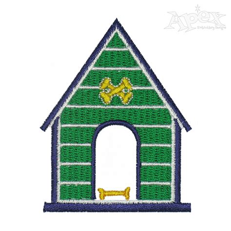house embroidery design dog house embroidery design