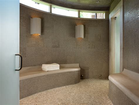 Small Bath Showers pool house amp wine cellar contemporary bathroom