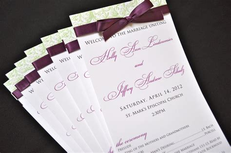 Wedding Paper Divas Programs by Wedding Ceremony Programs Stationery To Design Print