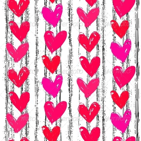 valentines day pattern s day pattern with painted hearts by tukkki