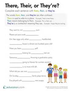 there their or they re worksheet education com