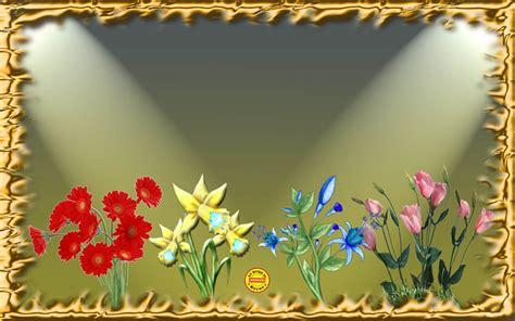 desain bingkai bunga quot welcome quot di situs kreasi desain wallpaper dengan corel
