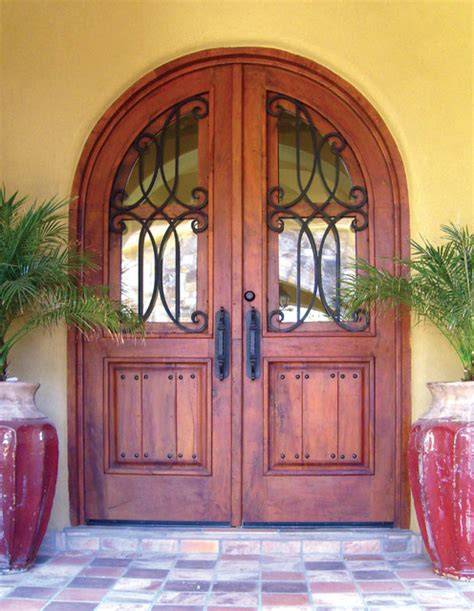 Wood And Iron Front Doors Iron And Wood Doors And Gates
