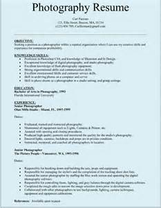 Photographer Resume Sample 10 Photographer Resume Templates Free Word Excel Pdf