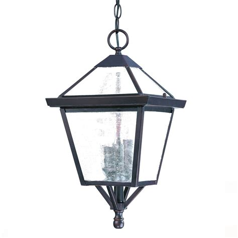 Architectural Lighting Fixtures Bay Collection Hanging Lantern 3 Light Outdoor Architectural Bronze Light Fixture 7626abz