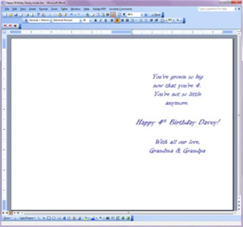 half fold card template publisher how to print your own greeting cards
