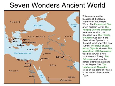 7 wonders of africa map maps ancient and history