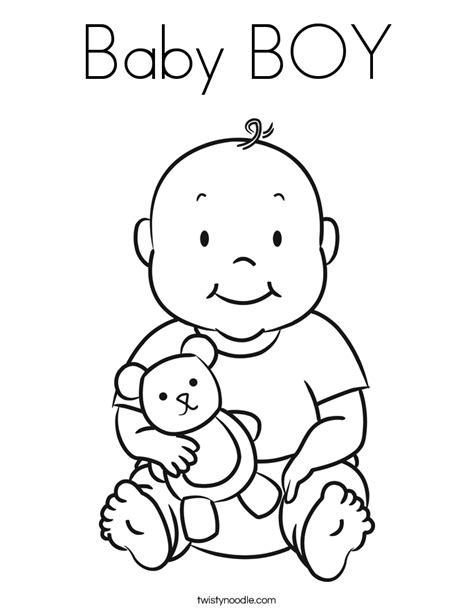 coloring page of baby boy 301 moved permanently
