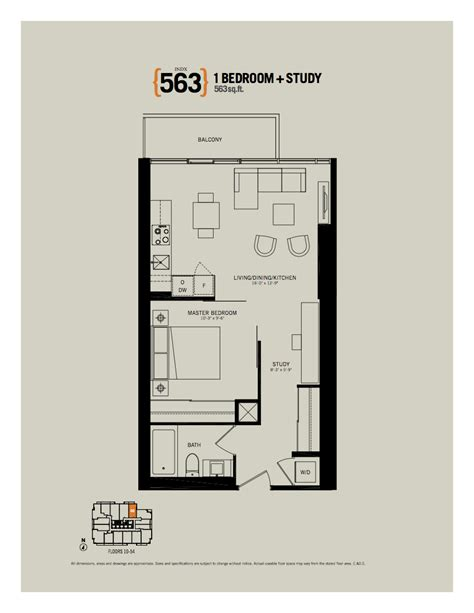 indx condos indx condos 1 bedroom study den floor plans