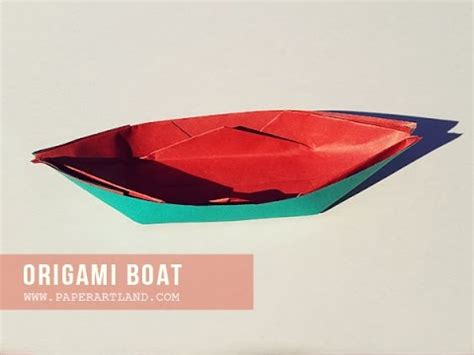 A Paper Boat That Floats - origami for how to make an paper boat that floats on