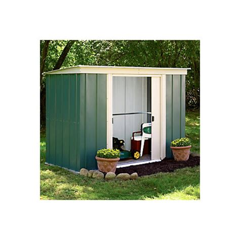 8x4 Metal Shed by 8x4 Greenvale Pent Metal Shed Departments Diy At B Q