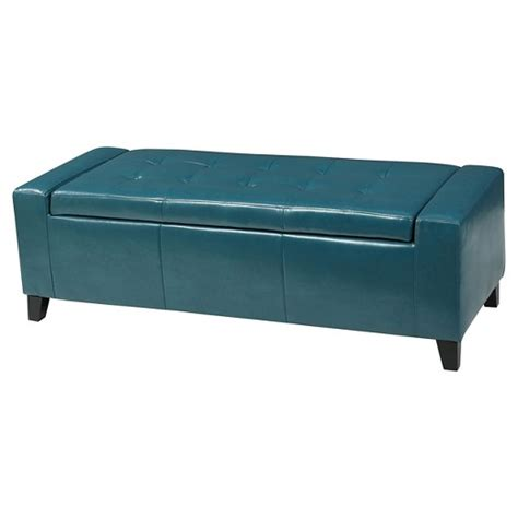 christopher knight storage ottoman guernsey faux leather storage ottoman bench christopher