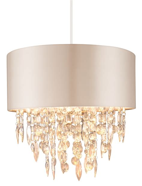 Bhs Ceiling Light Shades large 400mm easy fit ceiling light shade mocha with acrylic droplets bhs jemima ebay