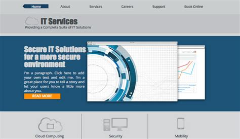 it solution template it solutions wix template wix business template